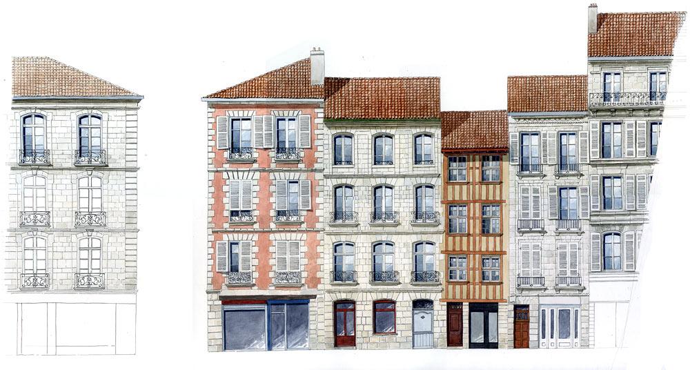 galerie dessins bayonne par dominique duplantier editions koegui. Black Bedroom Furniture Sets. Home Design Ideas
