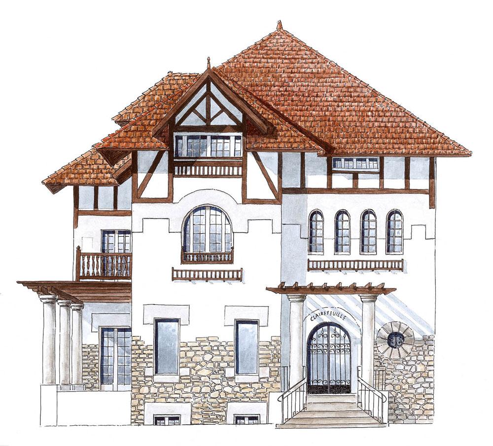 Dessin D Une Villa : Galerie dessins bayonne par dominique duplantier